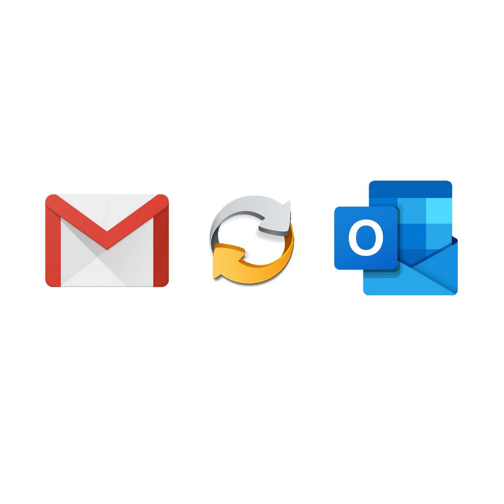 Синхронизация Gmail с Outlook 2016-2019