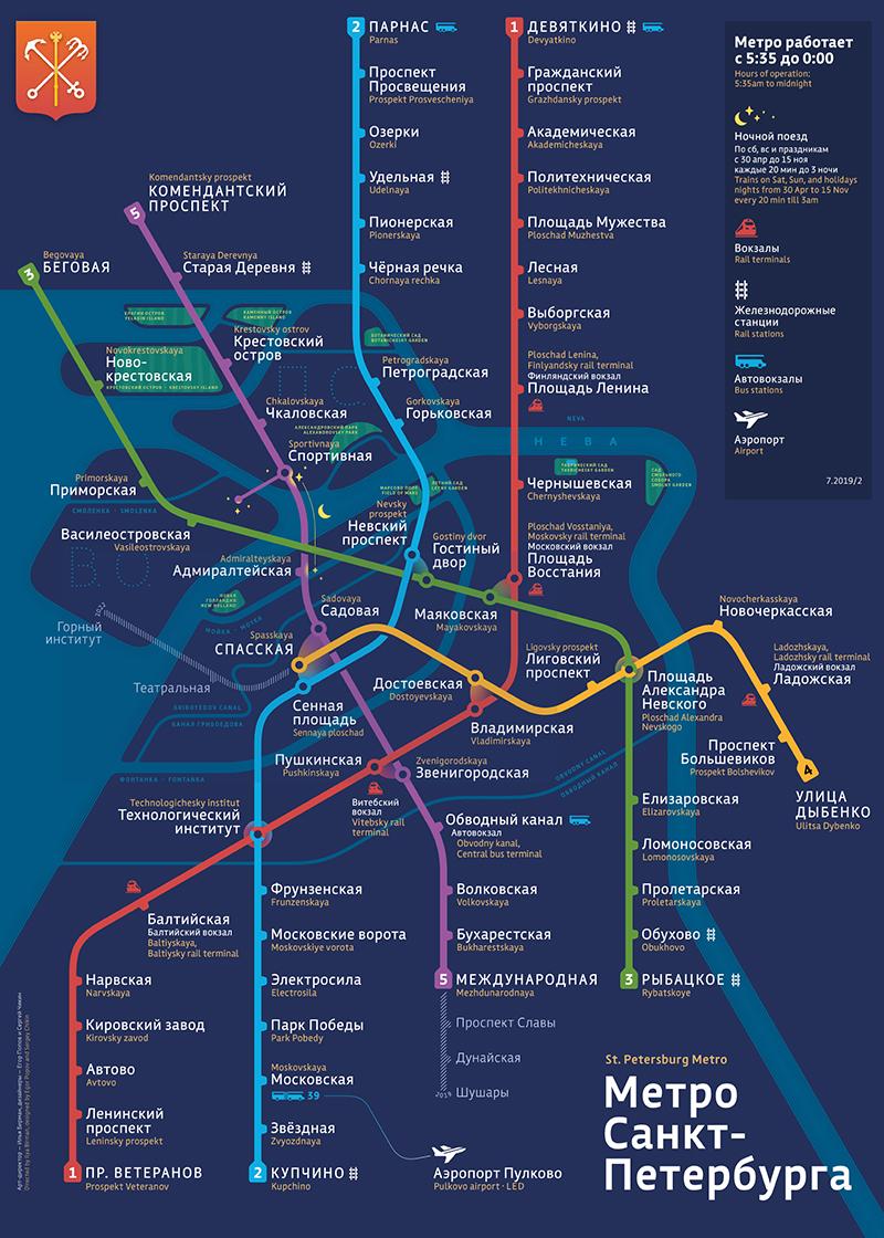 St. Petersburg metro scheme